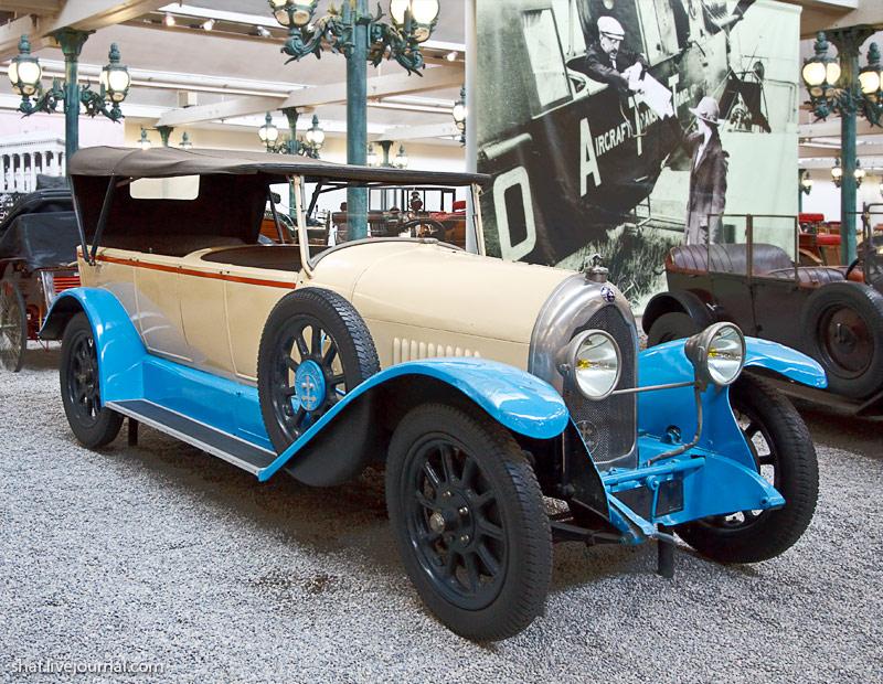 Автомузей; Национальный музей автомобилей, Мюлуз (Mulhouse), Франция; Lorraine-Dietrich, Torpedo Type B3-6, 1923; Антилопа-Гну